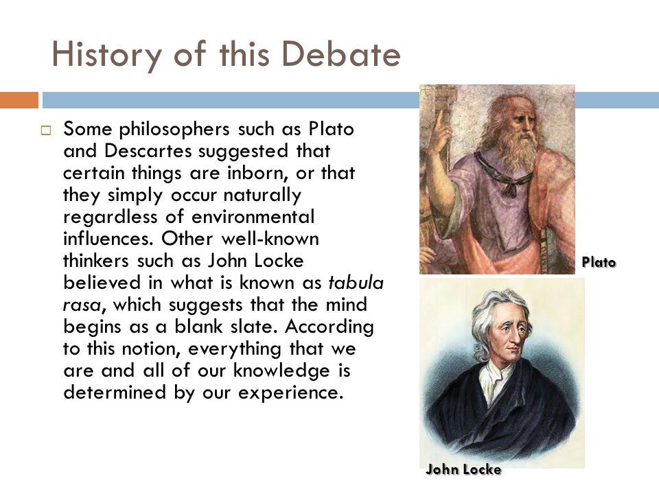 History of this Debate