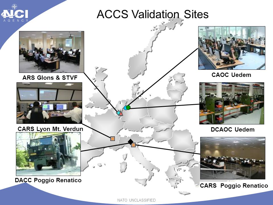 ACCS Validation Sites CAOC Uedem ARS Glons & STVF CARS Lyon Mt. Verdun