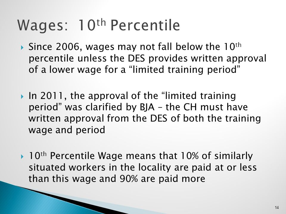 Wages: 10th Percentile