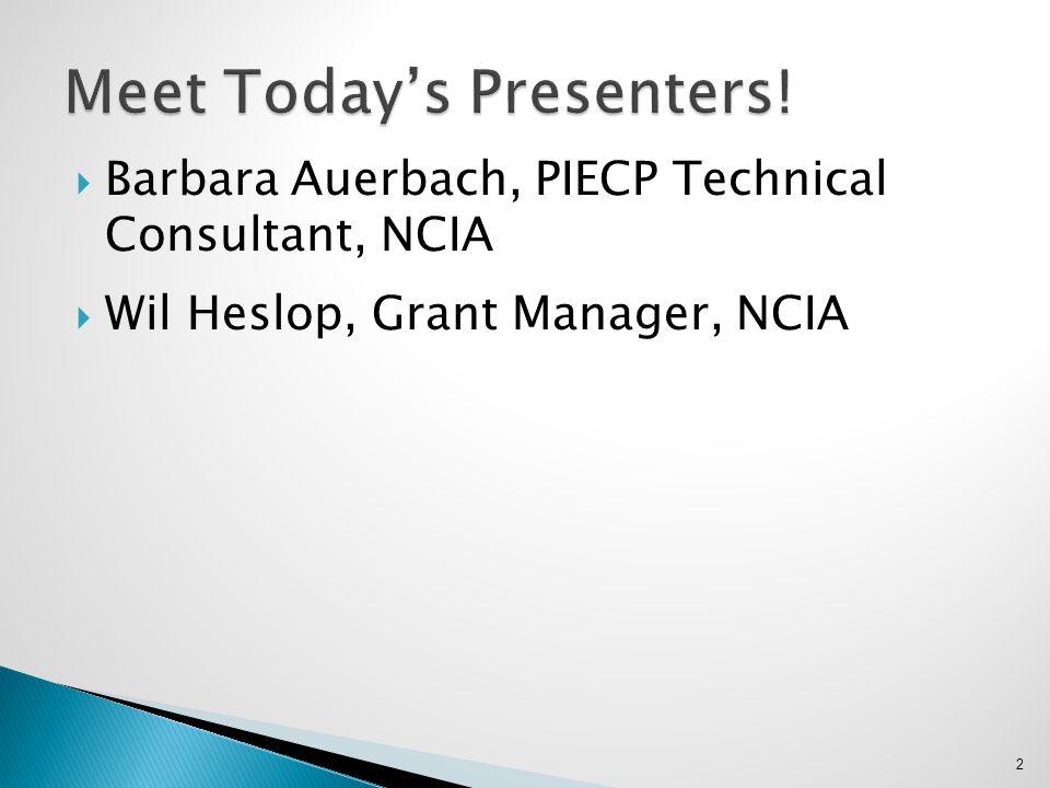 Meet Today's Presenters!