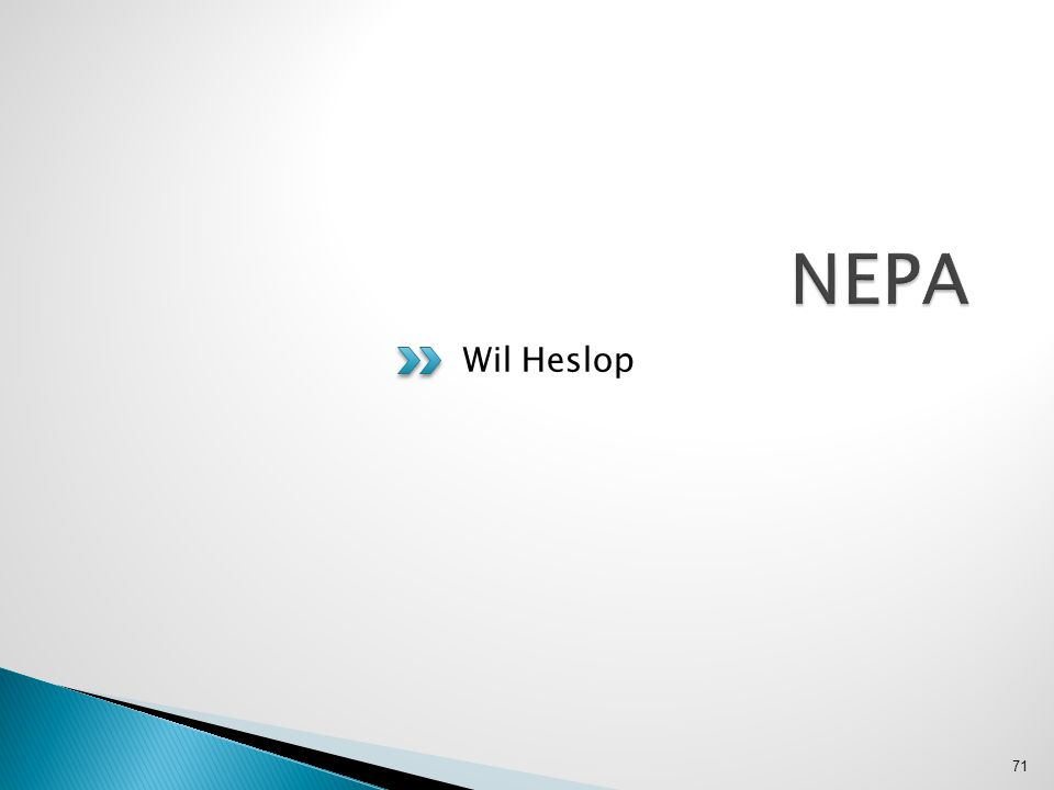 NEPA Wil Heslop
