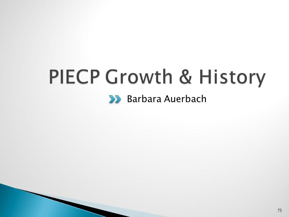 PIECP Growth & History Barbara Auerbach