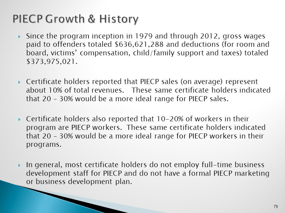 PIECP Growth & History
