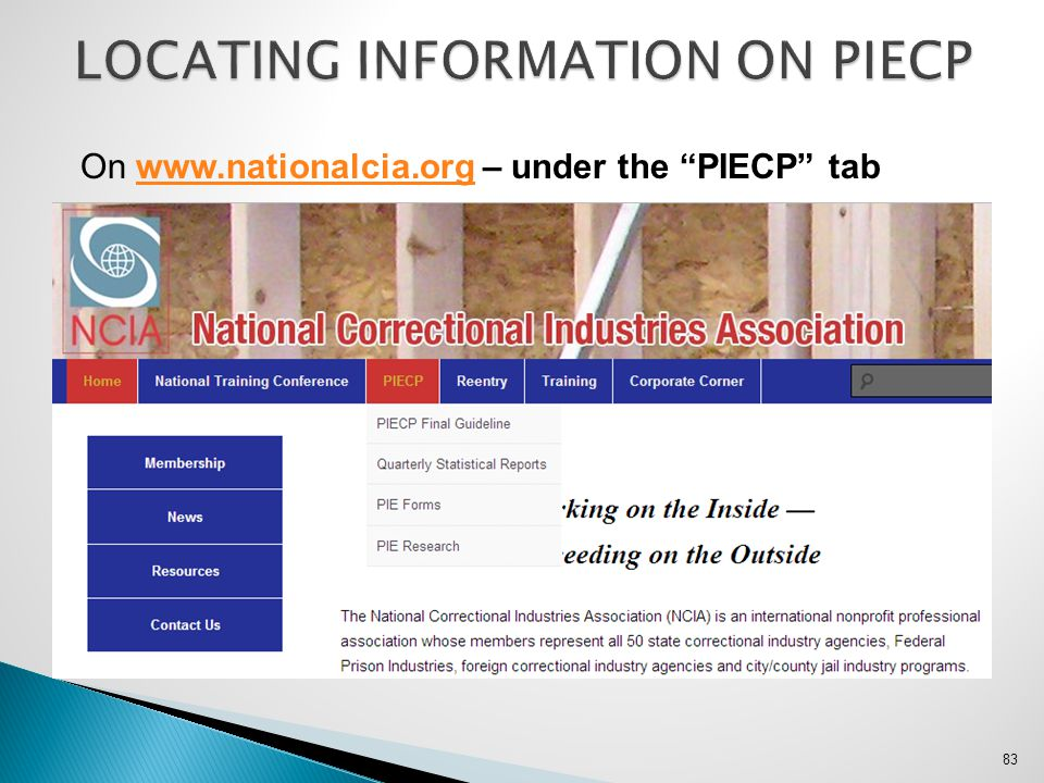 LOCATING INFORMATION ON PIECP