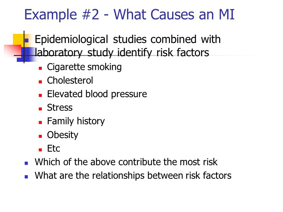 Example #2 - What Causes an MI