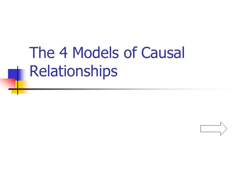 The 4 Models of Causal Relationships