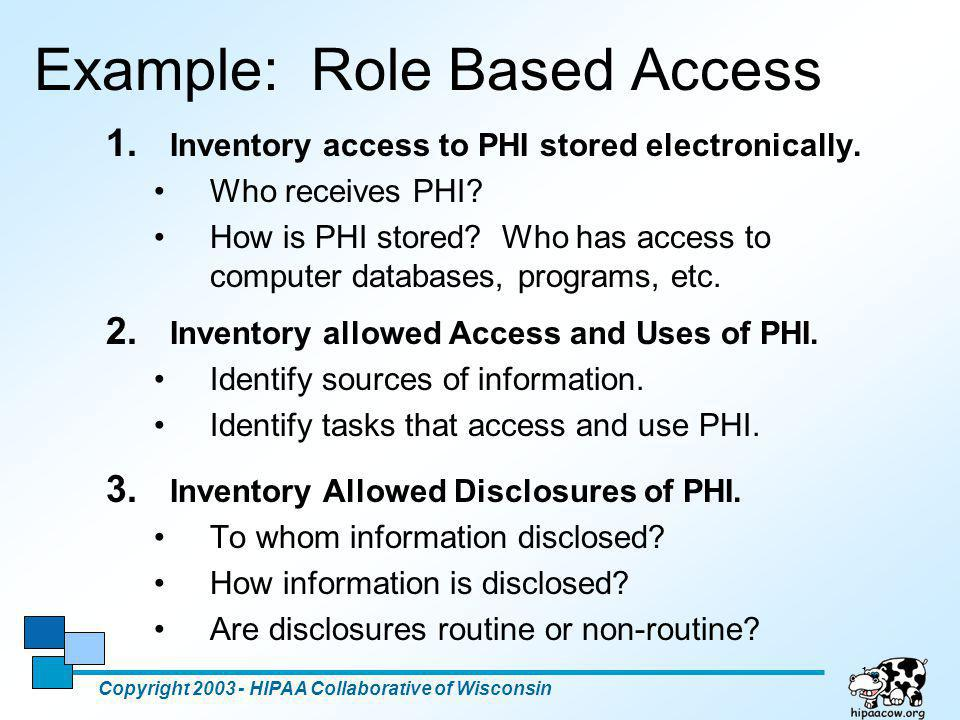Example: Role Based Access