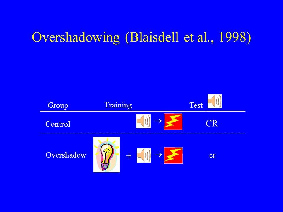 Overshadowing (Blaisdell et al., 1998)