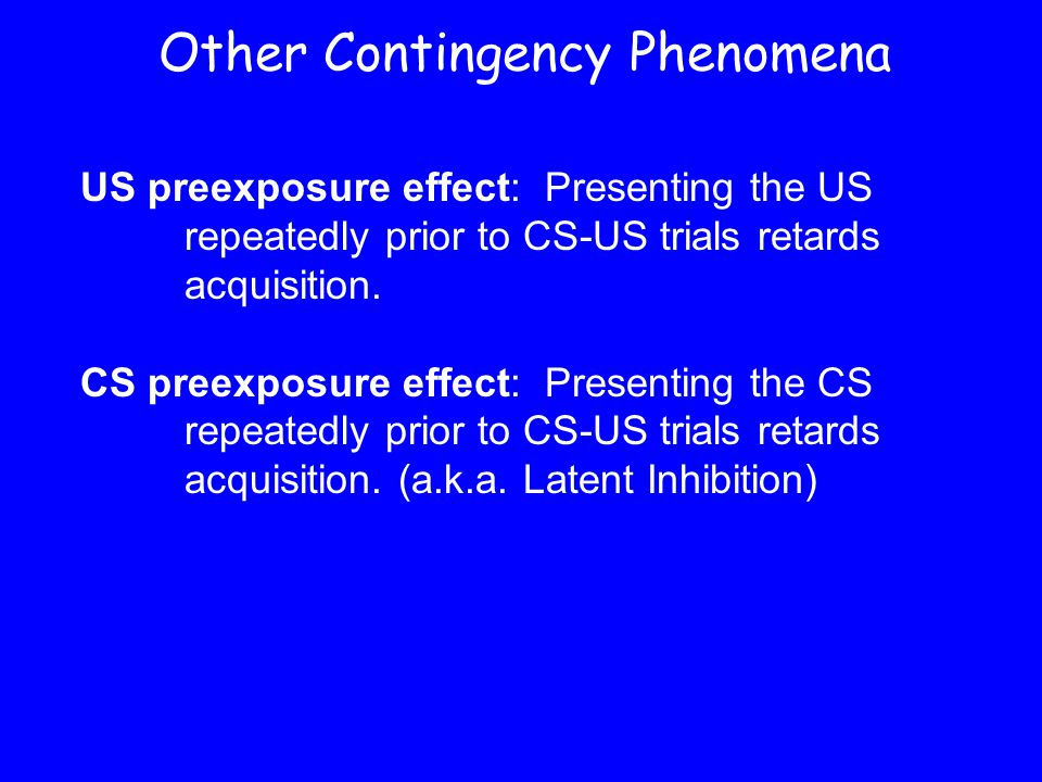Other Contingency Phenomena