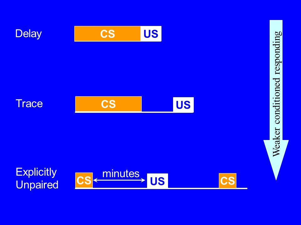 CS US Delay CS US Trace Explicitly Unpaired minutes CS US CS