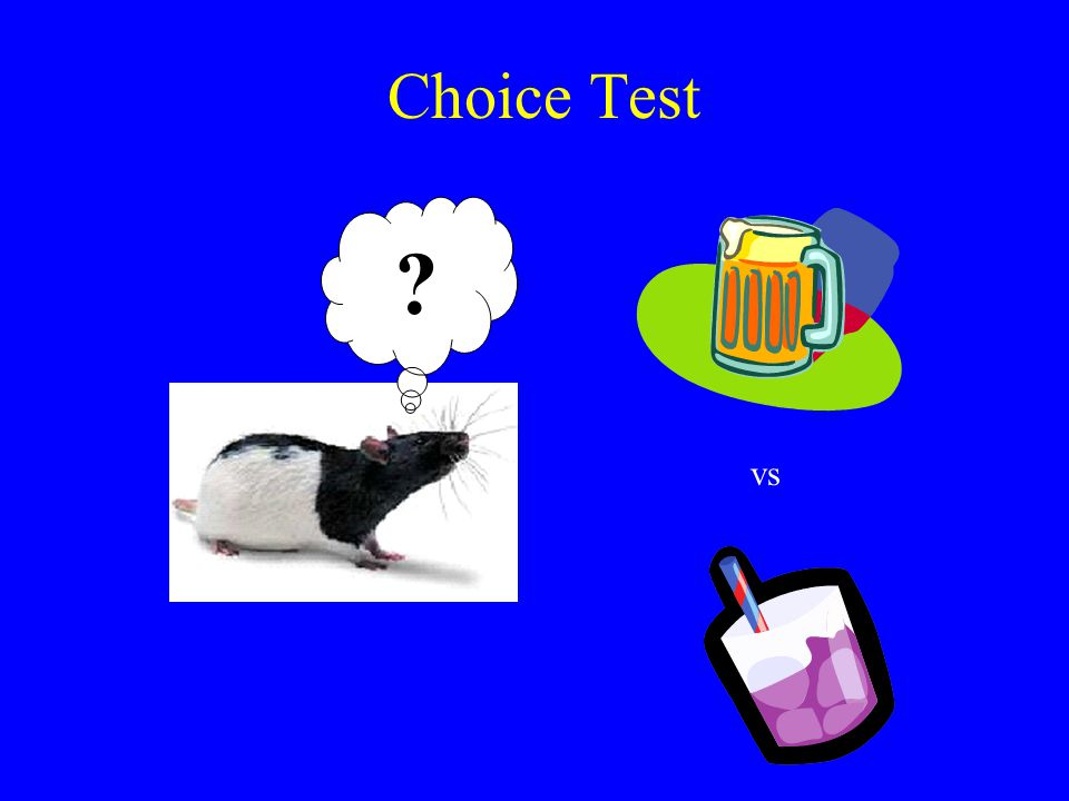 Choice Test vs CTA in chemotherapy.