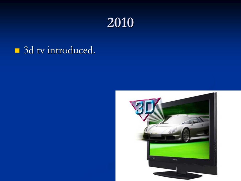 2010 3d tv introduced.