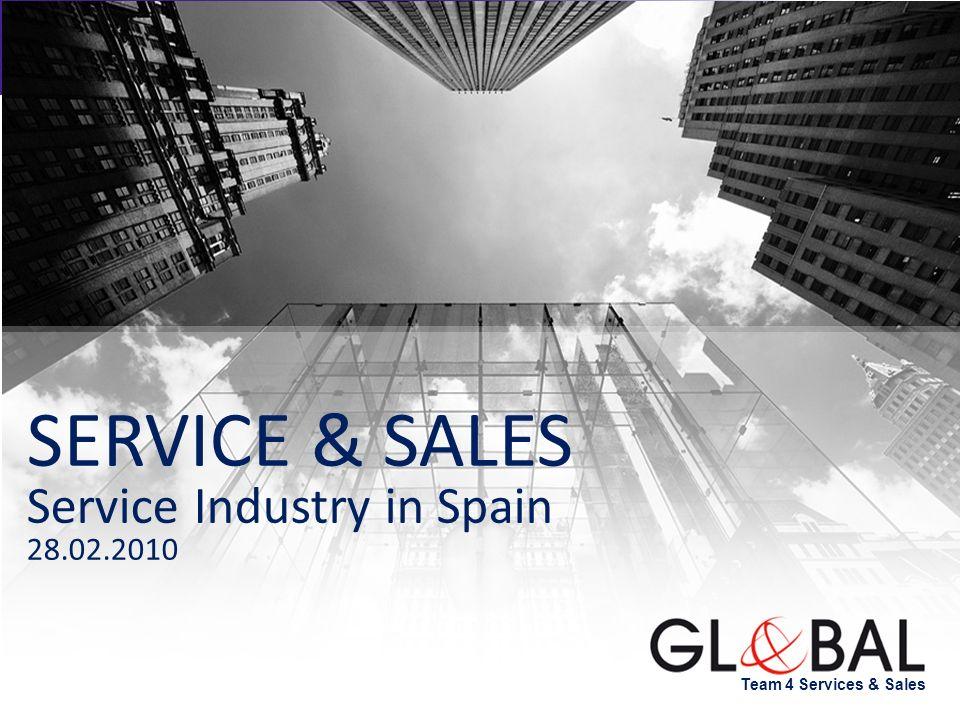 SERVICE & SALES Service Industry in Spain 28.02.2010 NOTAS: