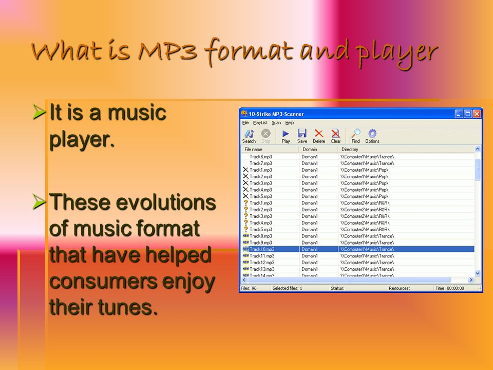 What is MP3 format and player