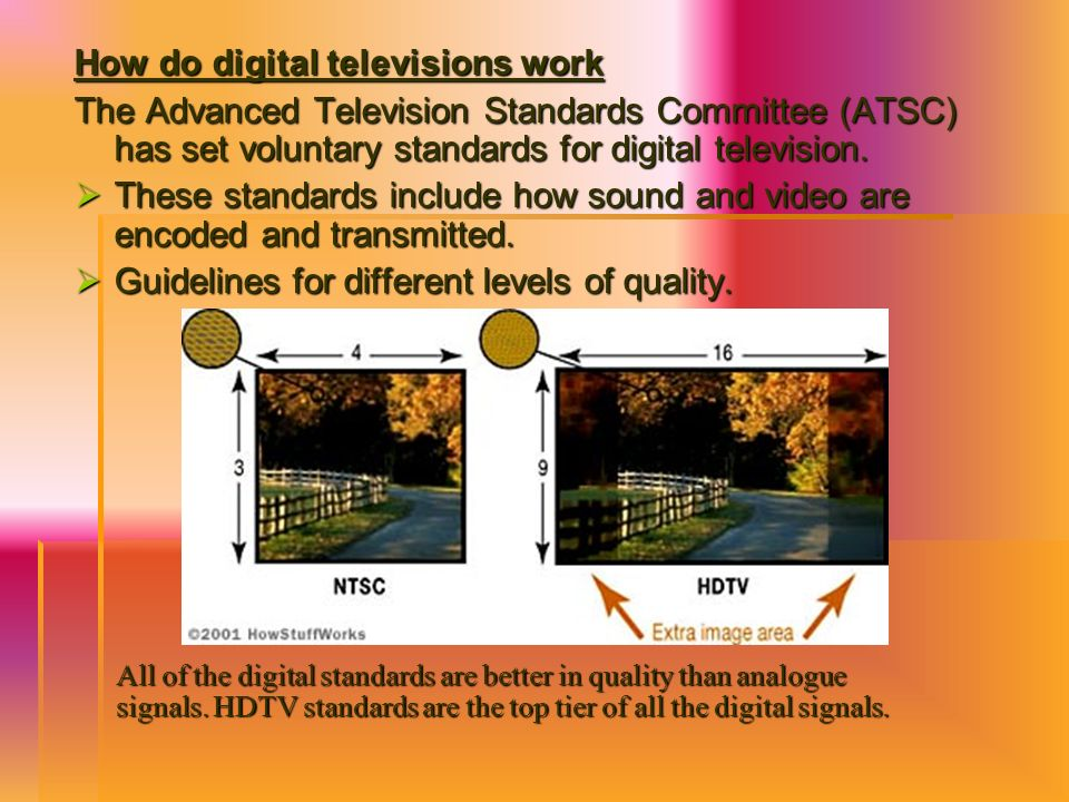 How do digital televisions work