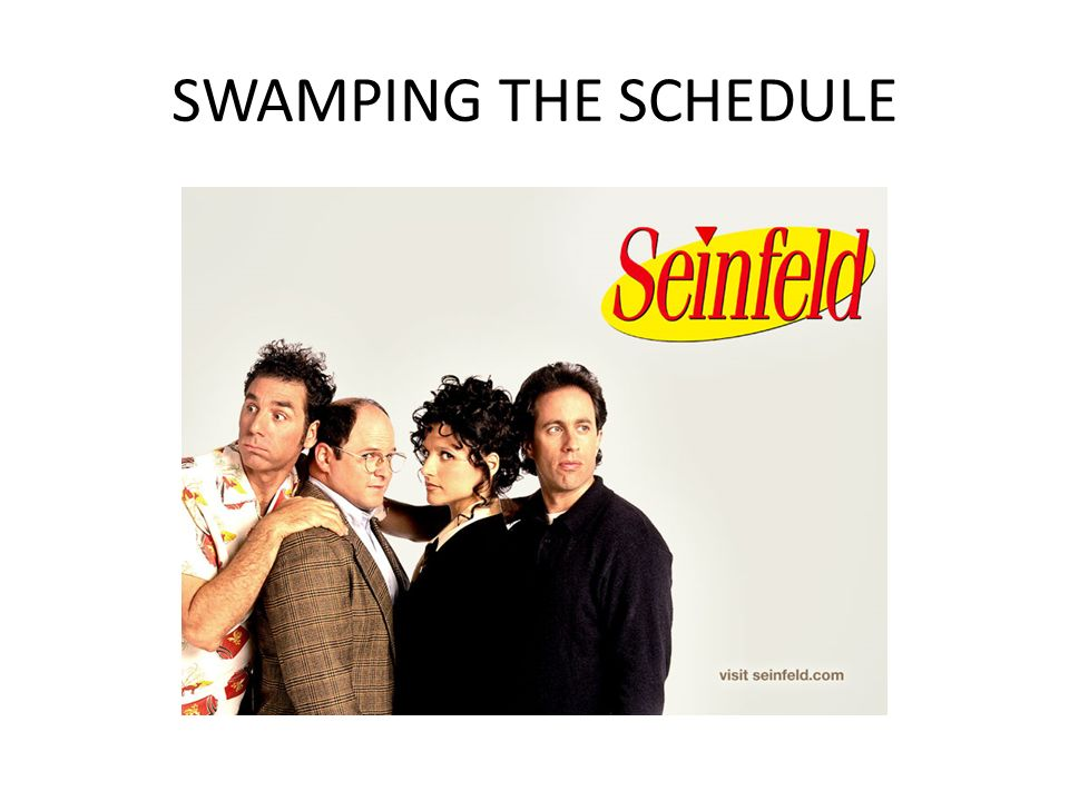 SWAMPING THE SCHEDULE