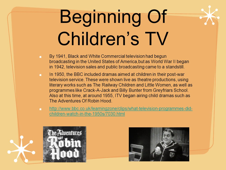 Beginning Of Children's TV