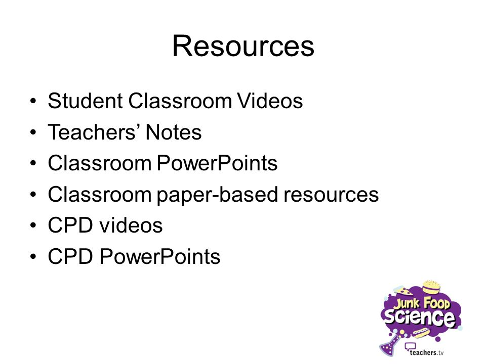 Resources Student Classroom Videos Teachers' Notes