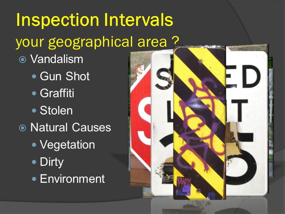 Inspection Intervals your geographical area