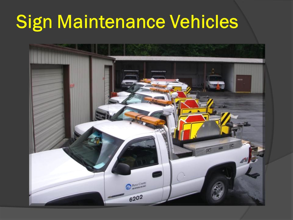 Sign Maintenance Vehicles