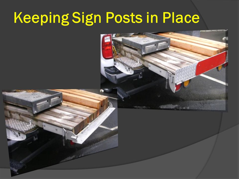 Keeping Sign Posts in Place