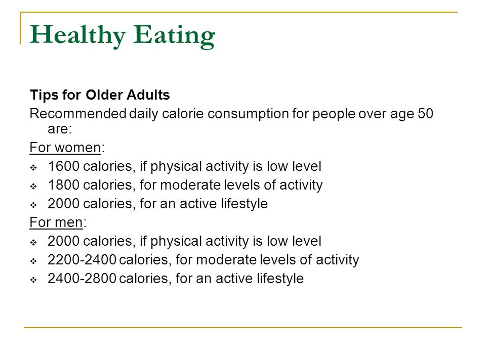 Healthy Eating Tips for Older Adults