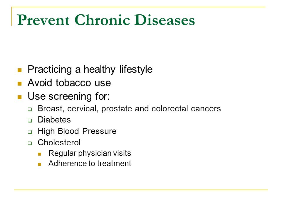Prevent Chronic Diseases