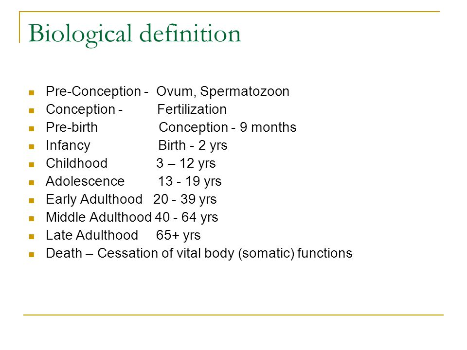 Biological definition