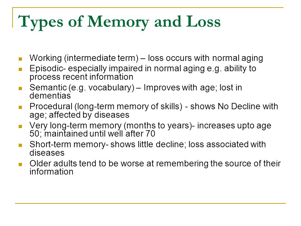 Cognitive Skills & Normal Aging