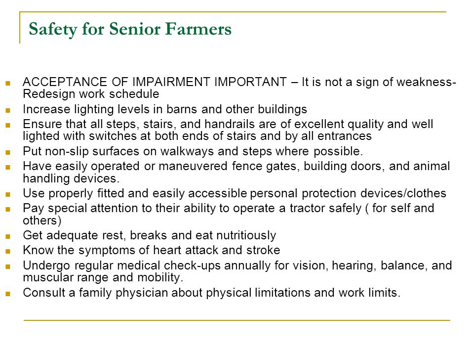 Safety for Senior Farmers