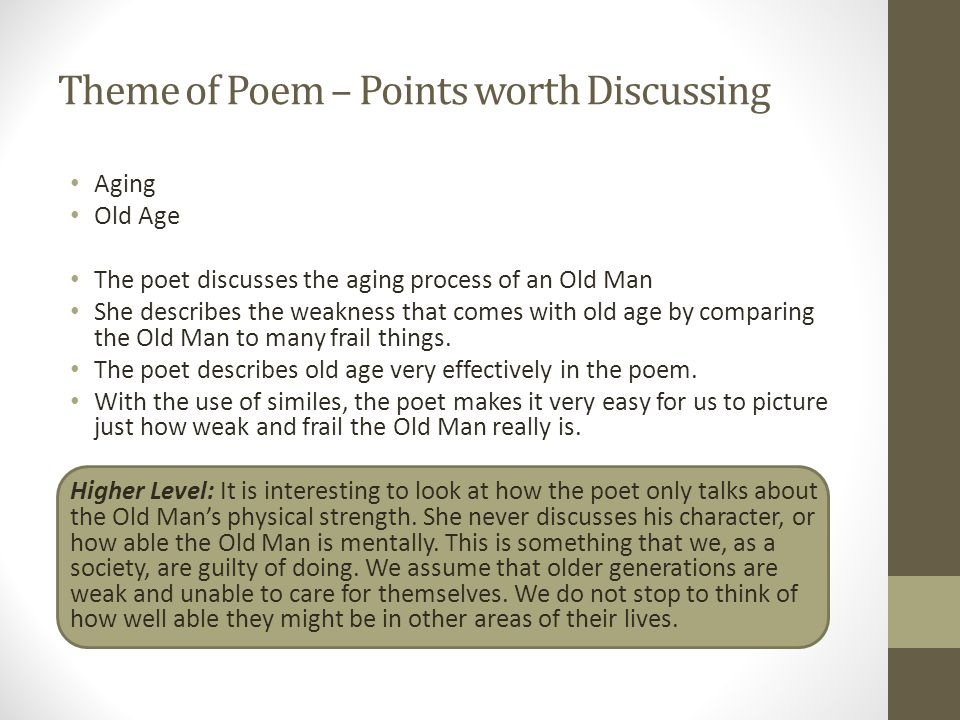 Theme of Poem – Points worth Discussing