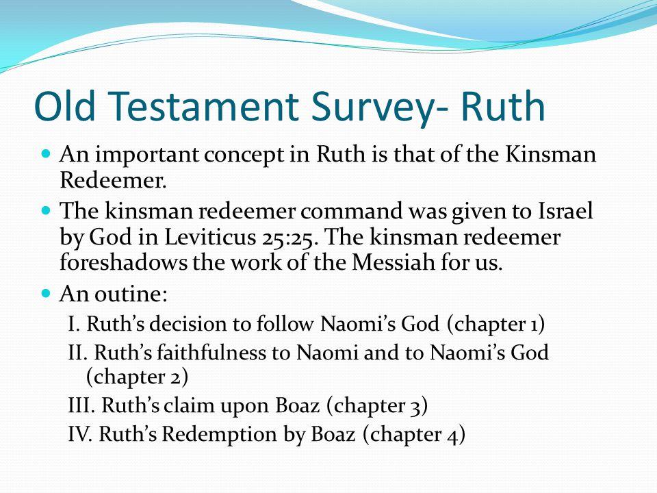 Old Testament Survey- Ruth