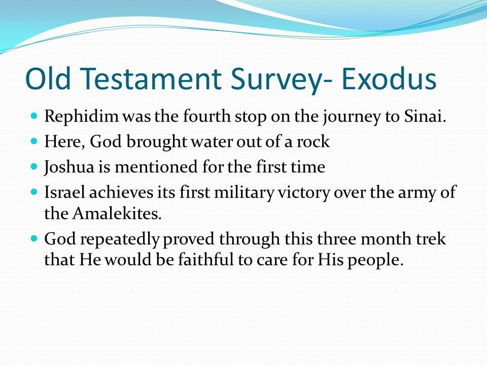 Old Testament Survey- Exodus