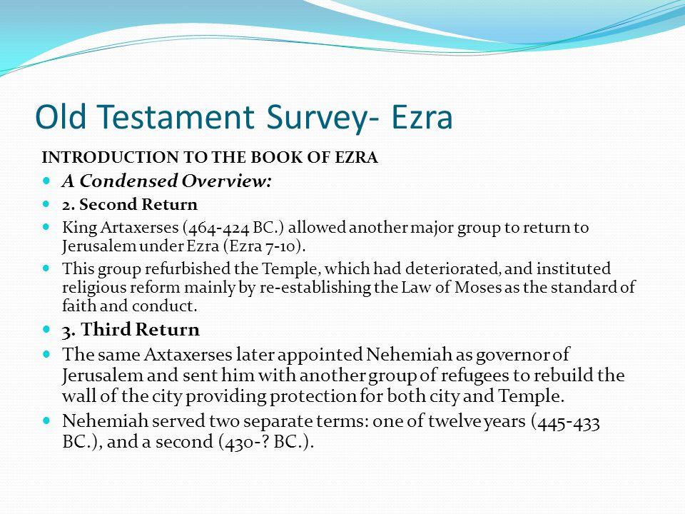 Old Testament Survey- Ezra
