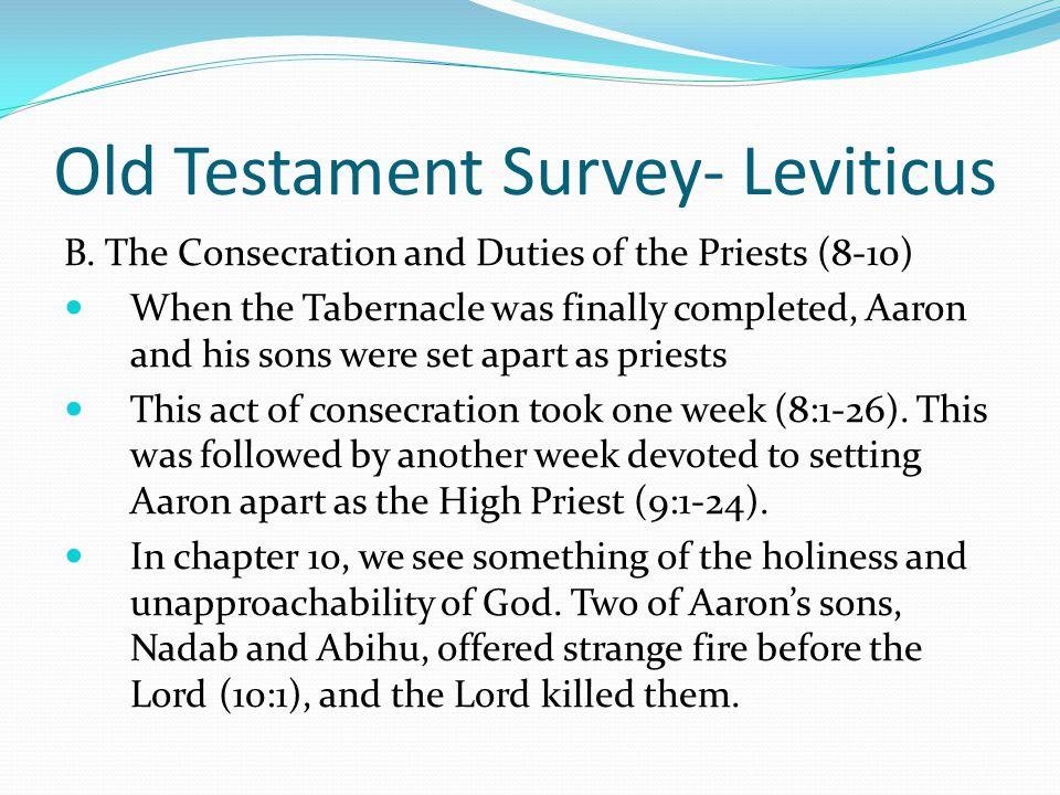 Old Testament Survey- Leviticus