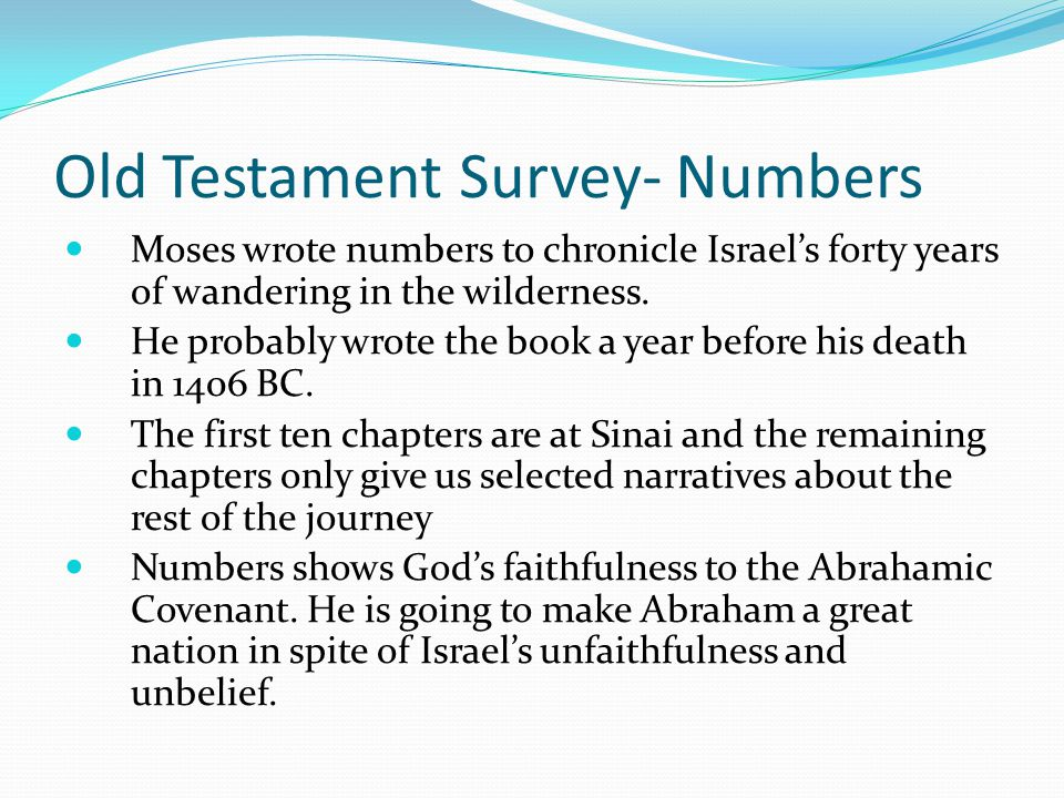 Old Testament Survey- Numbers