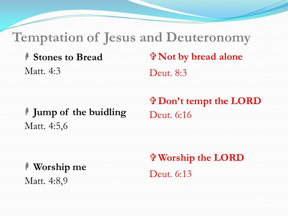 Temptation of Jesus and Deuteronomy