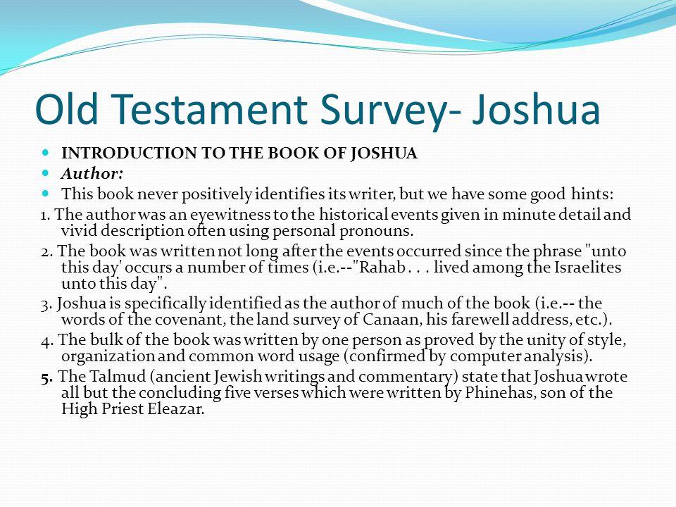 Old Testament Survey- Joshua