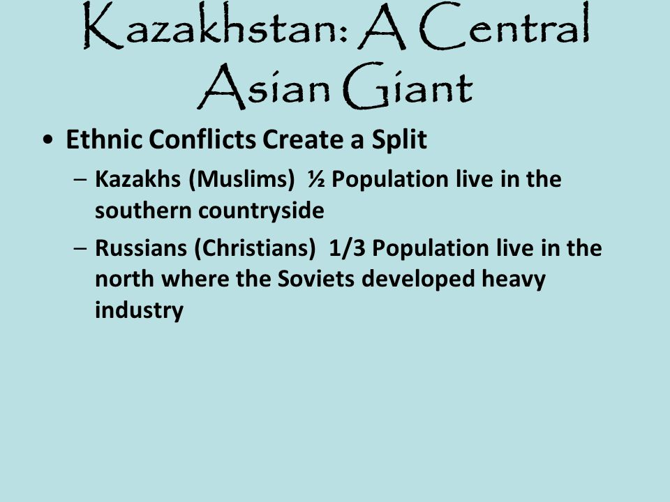 Kazakhstan: A Central Asian Giant