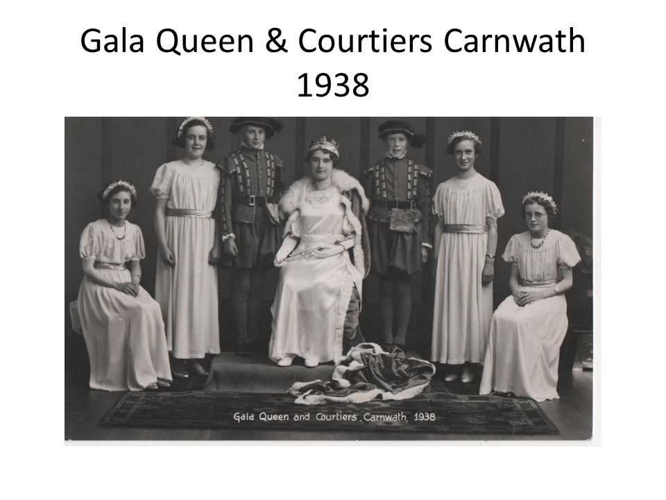 Gala Queen & Courtiers Carnwath 1938