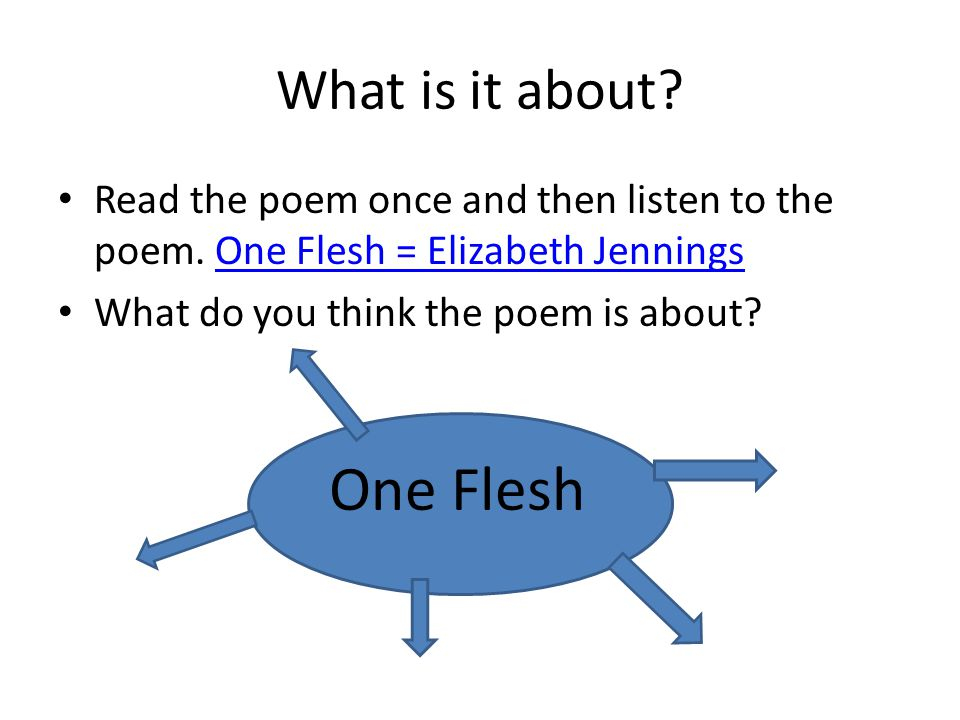 One Flesh What is it about