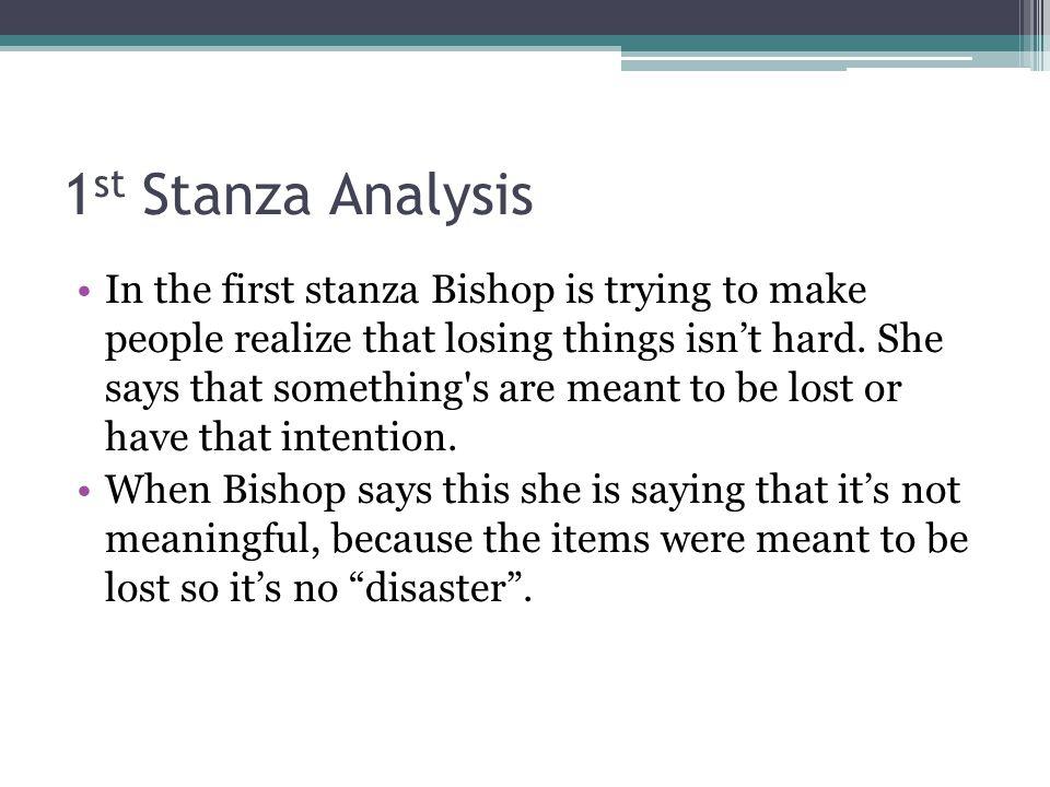 1st Stanza Analysis