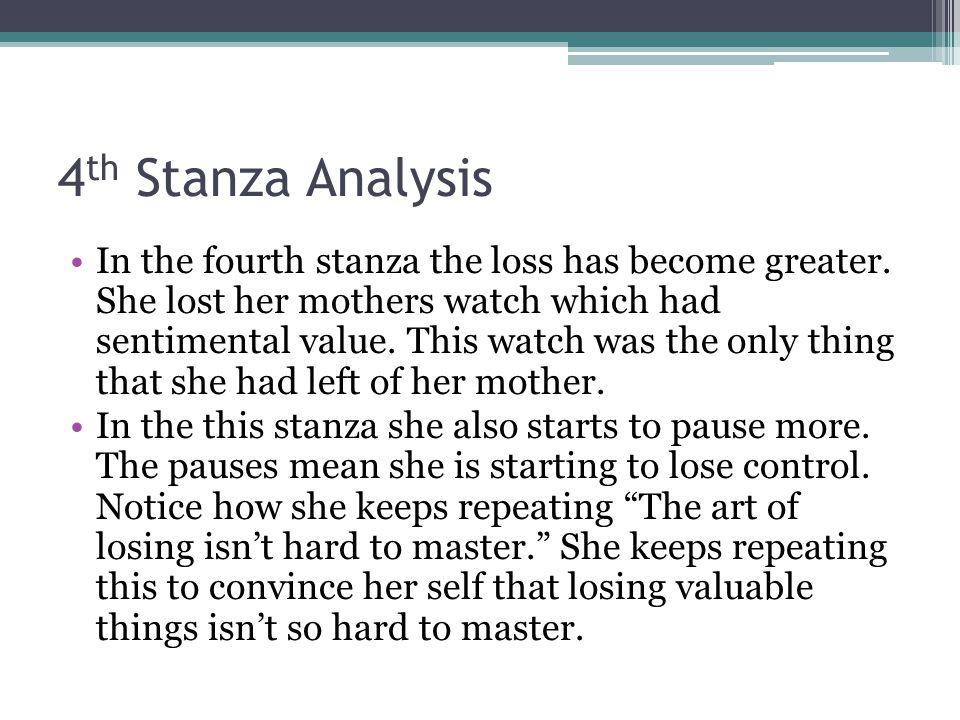 4th Stanza Analysis