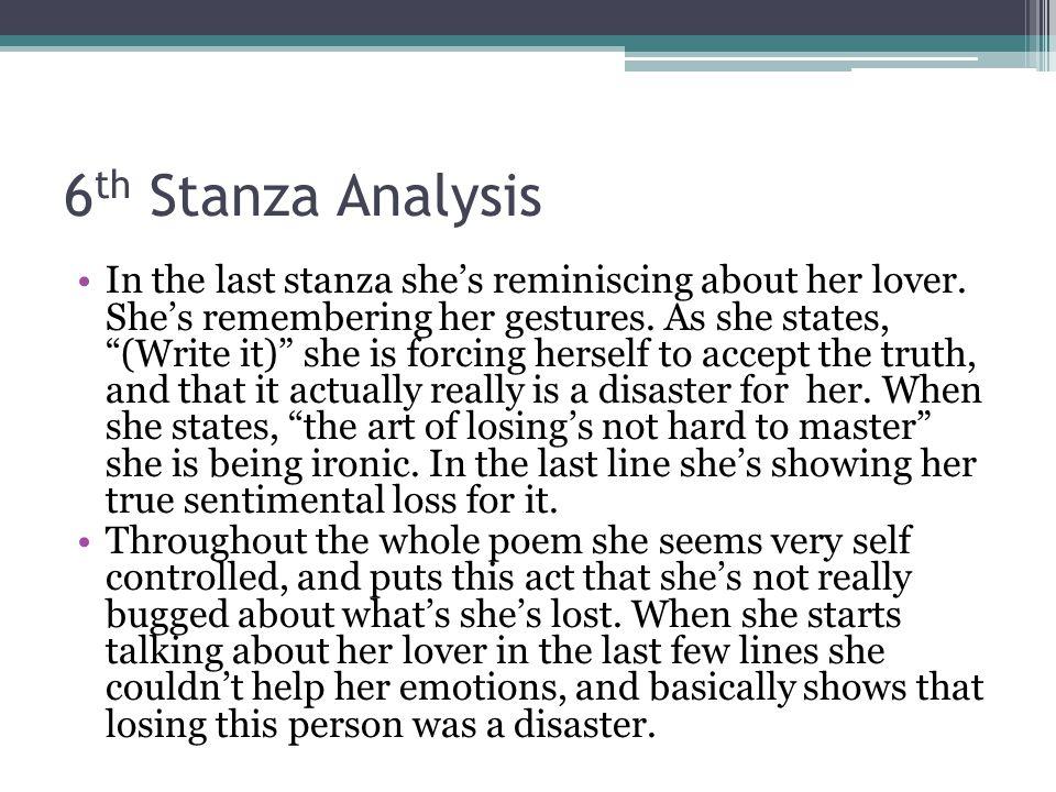 6th Stanza Analysis
