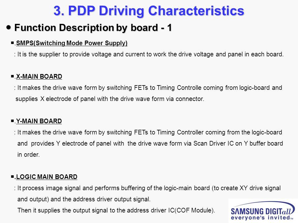 3. PDP Driving Characteristics