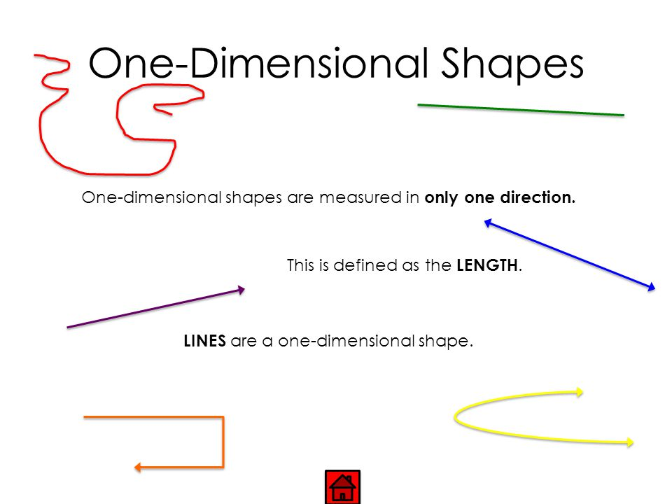 One-Dimensional Shapes