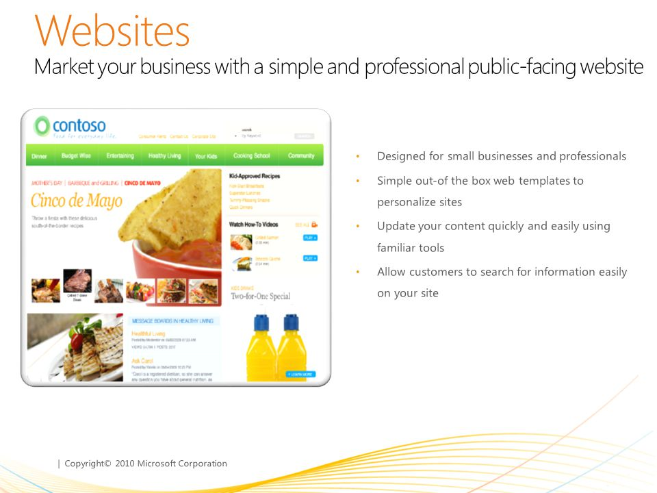 Websites Market your business with a simple and professional public-facing website