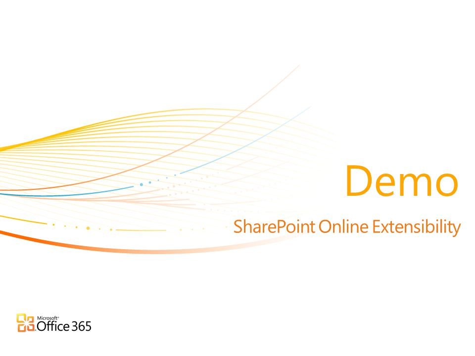 SharePoint Online Extensibility