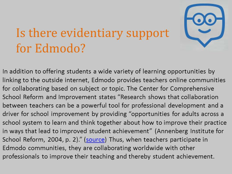 Is there evidentiary support for Edmodo