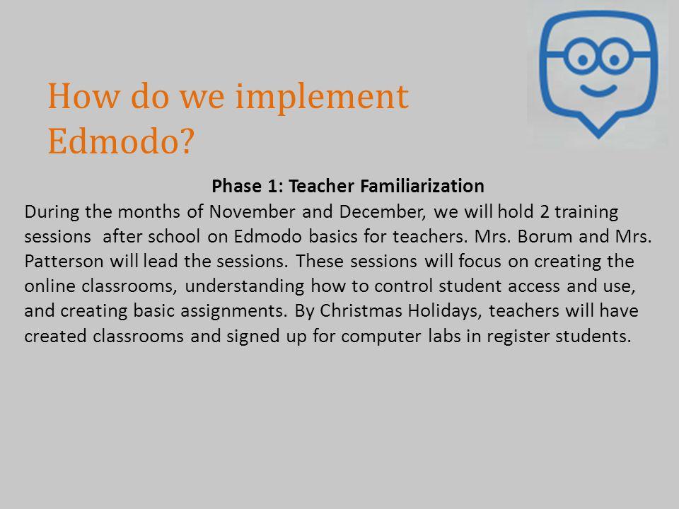 Phase 1: Teacher Familiarization